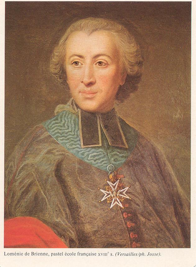 Loménie de Brienne, pastel Ecole Française du XVIII°s