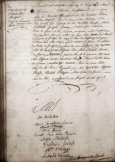 Archives des Yvelines, Versailles, acte de baptême, année 1785, p.42